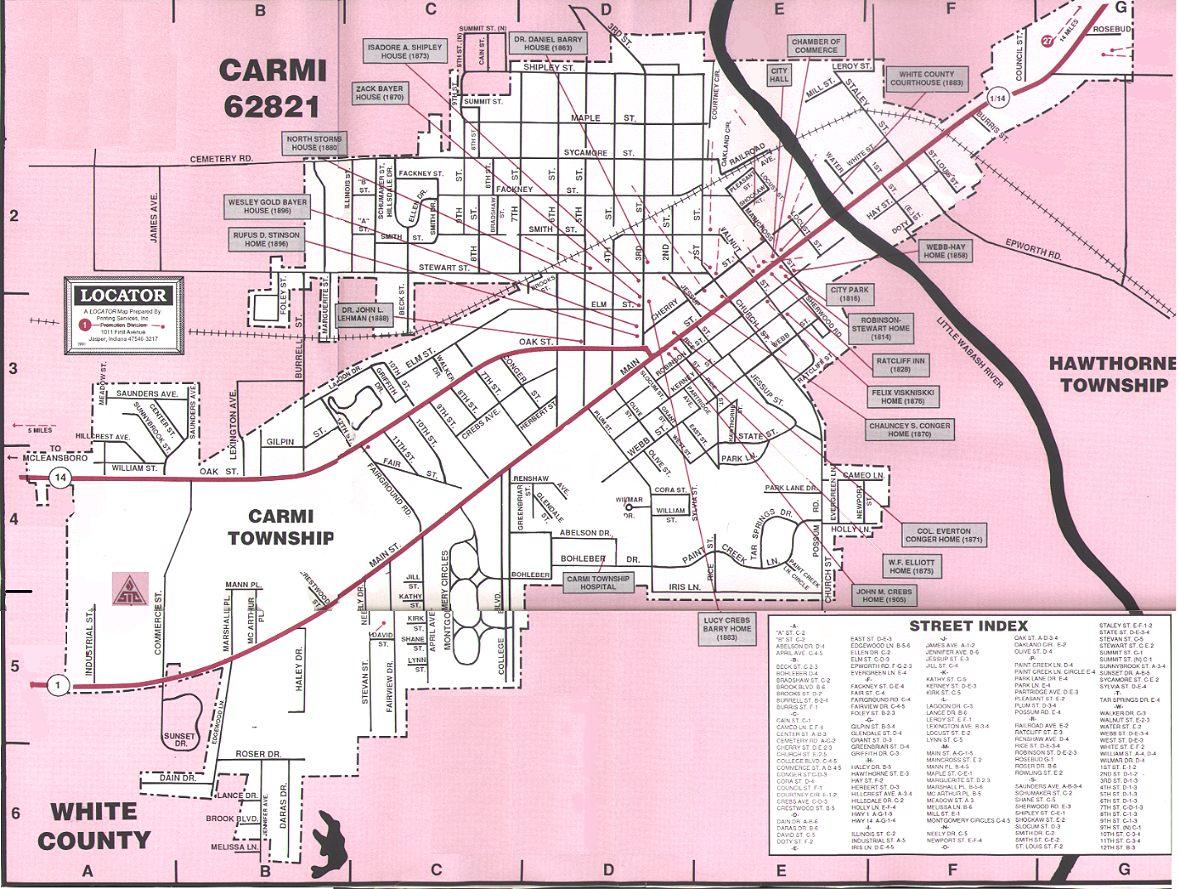 White County Illinois Maps